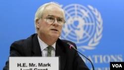 Duta Besar Inggris untuk PBB, Mark Lyall Grant mengatakan 15 anggota Dewan harus bereaksi secepatnya terkait peluncuran roket Korut (Foto: dok).