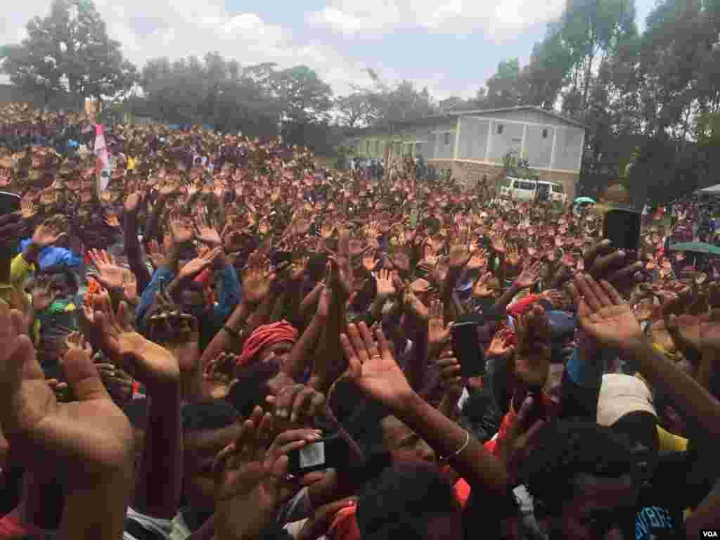 Apoiantes de Gudina em Ambo, Etiópia