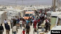 在約旦的敘利亞難民營