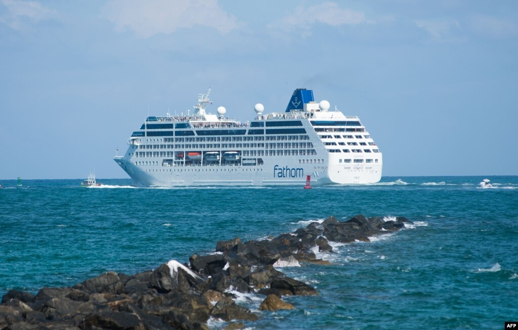 First US Cruise Ship In More Than 50 Years Sails To Cuba