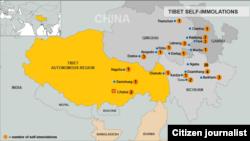 藏人自焚示意圖(截至11月8日)
