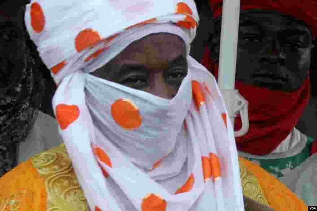 Sarkin Kano Muhammadu Sanusi II a wurin gasar wasan dawakai ta Hassan Hadeja