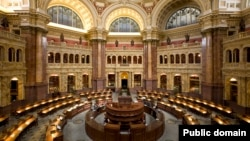美國首都華盛頓國會圖書館。