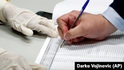 Birački spisak na jednom glasačkom mestu u Beogradu