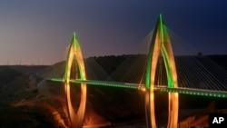 Le pont Mohamed VI, Rabat, le 20 juillet 2016