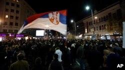 "Protest ""Jedan od pet miliona"", četrnaesti po redu, u Beogradu, 9. marta 2019."
