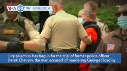 VOA60 Ameerikaa - Jury selection begins Monday in Derek Chauvin's trial on second-degree murder and manslaughter charges