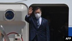 19 Mayıs 2021 - Güney Kore lideri Moon Jae-in, Washington ziyareti öncesinde Seul'da havaalanında