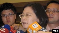 台湾民进党前主席蔡英文 (美国之音申华拍摄)