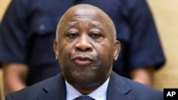 FILE - Former Ivory Coast President Laurent Gbagbo attends a confirmation-of-charges hearing at the International Criminal Court in The Hague, Feb. 19, 2013.