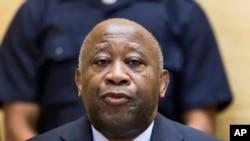 Laurent Gbagbo, ex-président de la Côte d'Ivoire lors d'une audience de la Cour pénale internationale, à la Haye