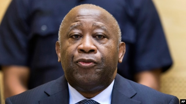 FILE - Former Ivory Coast President Laurent Gbagbo attends a confirmation of charges hearing at the International Criminal Court (ICC) in The Hague, Netherlands, Feb. 19, 2013.