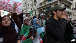 Manifestation d'étudiants à Alger le 29 octobre 2019.