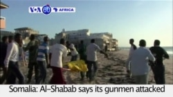 VOA60 Africa- Al-Shabab gunmen kill 20 people at Mogadishu restaurant