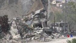 Le centre bombardé en Syrie assure ne pas produire d'armes chimiques (vidéo)