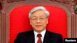 Tổng Bí thư Ðảng cộng sản Việt Nam Nguyễn Phú Trọng.