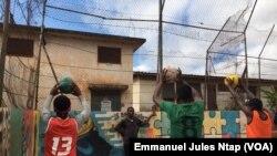 Lors une séance d'entraînement au stade de Messa, à Yaoundé, le 10 août 2019. (VOA/Emmanuel Jules Ntap)