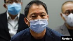 香港民主党主席胡志伟(路透社2020年9月29日)