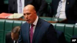 Australian ျပည္ထဲေရးဝန္ႀကီး Peter Dutton