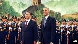 Си Цзиньпин и Барак Обама в Китае в 2014