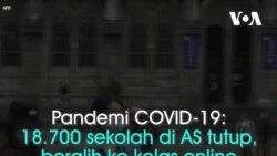 Pandemi COVID-19: 57 ribu sekolah di AS tutup, ratusan universitas kelas online