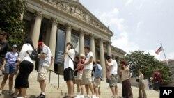남북대학생들의 미국 국립문서보관소 방문