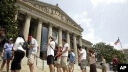 남북대학생의 미 국립문서보관소 방문(2)