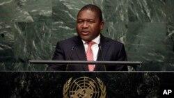 Le président du Mozambique, Filipe Nyusi, 28 setpembre 2015