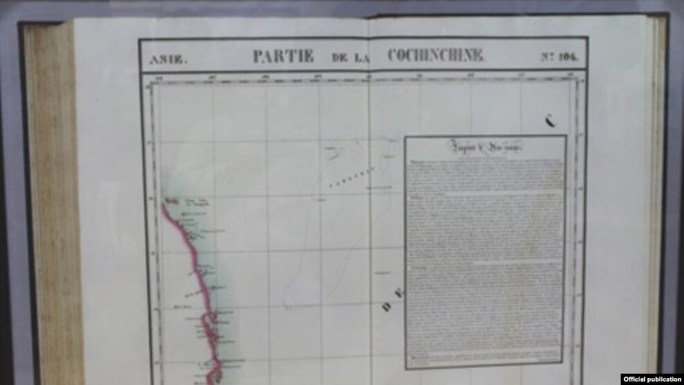 Bản đồ quần đảo Hoàng Sa thuộc về Đế chế An Nam (Việt Nam) (Nguồn Báo Lao động)
