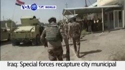 VOA60 World PM - Iraqi Special Forces Retake Fallujah Government Building
