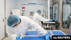 Bočice sa remdesivirom u laboratoriji farmaceutske kompanije Gilead Sajenses u Kaliforniji, 18. marta 2020.