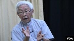 天主教香港教區陳日君樞機對梵中簽訂臨時秘密協議感痛心。(美國之音湯惠芸)