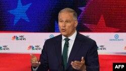 Le gouverneur démocrate de Washington, lors du premier débat Premier débat des démocrates, à Miami, le 26 juin 2019