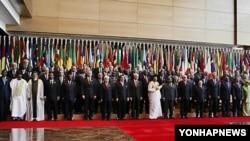 아프리카연합 정상회의에 참가한 각국 정상들(자료사진)
