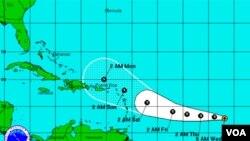 Ophelia se encuentra en mar abierto, sobre el Océano Atlántico, por el momento no existen advertencias de emergencia.