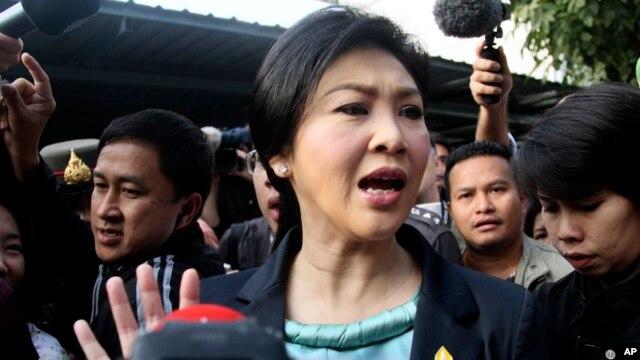 FILE - Thai Prime Minister Yingluck Shinawatra