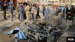Sejumlah pemboman di Baghdad menewaskan sedikitnya 69 orang, Kamis (22/12).