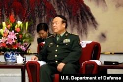 2007年11月同美国国防部长会晤时的郭伯雄(美国国防部照片)
