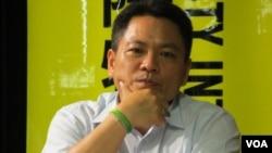 台灣前西藏交流基金會副秘書長翁仕杰 (美國之音張永泰拍攝)