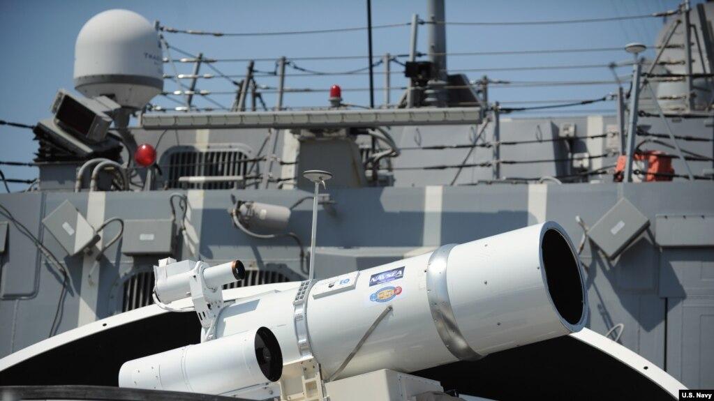 美國杜威號導彈驅逐艦上配置的激光武器系統(US Navy)