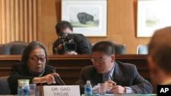 中国著名艾滋病维权人士高耀洁在美国国会作证
