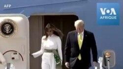 Trump arrive en Inde pour une visite d'Etat de deux jours