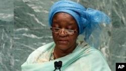 来自塞拉利昂的联合国有关冲突期间性暴力问题的特别代表班古拉(资料照)