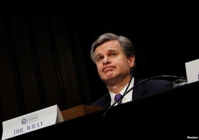 Christopher Wray, director de la Oficina Federal de Investigaciones, FBI.