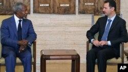 Кофи Аннан и Башар Асад. Дамаск. 9 июля 2012 г.