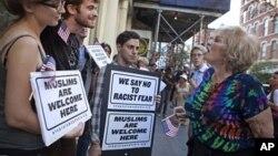 .Zagovornici i prosvjednici protiv gradnje muslimanskog centra nedaleko od Nulte tačke