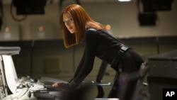 "Scarlett Johansson dalam film ""Captain America: The Winter Soldier"" (AP Photo/Marvel-Disney, Zade Rosenthal, file)."