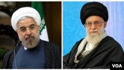Rouhani , Iran president and Khamenei, Iran leader,