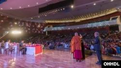 达赖喇嘛在国际佛教大会上发表主题演讲