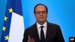 Francois Hollande à l'Elysée (1er déc. 2016)